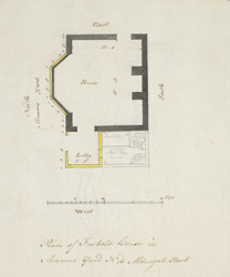 Plan of Freehold House in Masons Yard No 13 Aldersgate Street